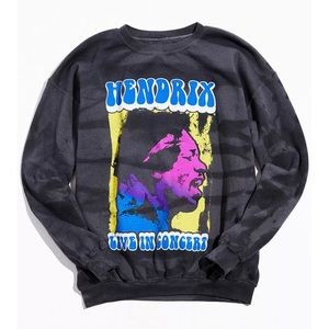 UO Jimi Hendrix Sun Faded Crew Neck Sweatshirt